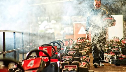 smoking go kart pit