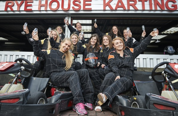 karting girl birthday party