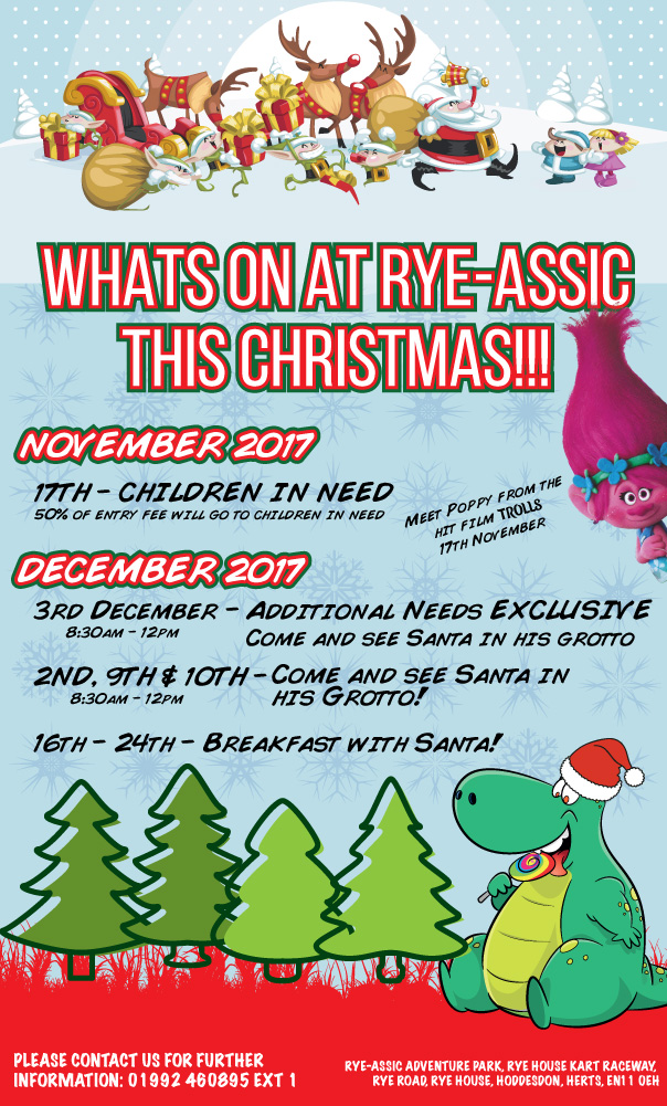 get ready for a fun filled christmas with the gang at rye assic