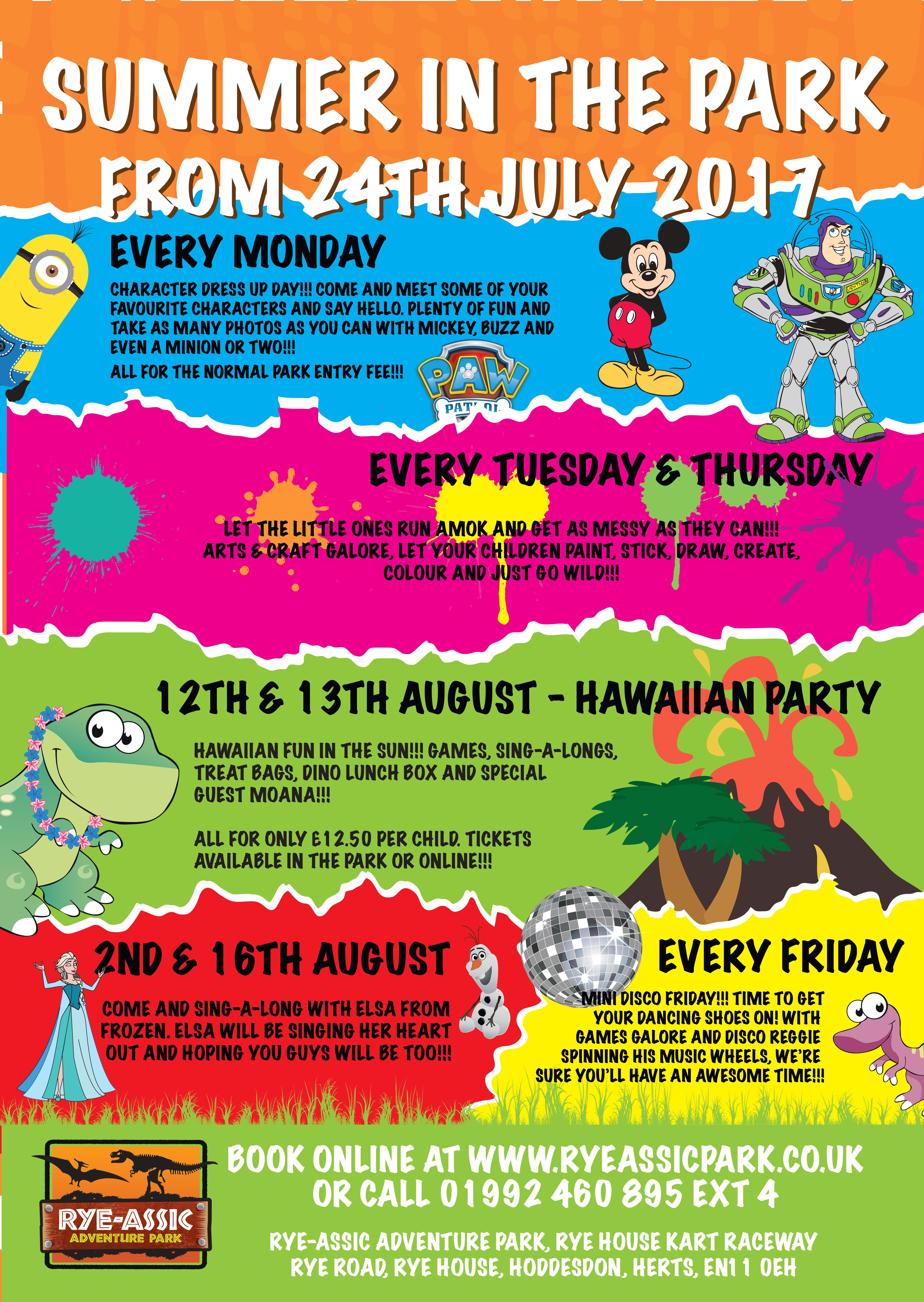 Ass Ic hawaiian party comes to rye-assic 12th - 13th august 2017