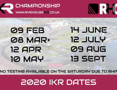 Rye House IKR 2020 dates